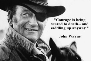 Graphic Quotes: John Wayne on Courage
