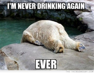 never drinking again ever