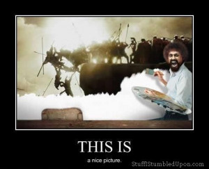 bob ross meme this is sparta meme 300 movie happy little trees: Like A ...