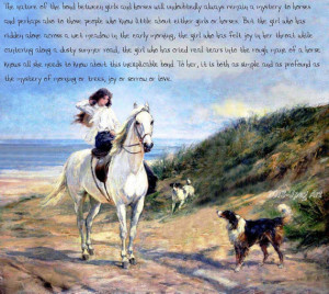 ... Painting Of Young Girl Riding Her Horse With A Quote, Digital, PDF