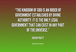 All of us who desire the kingdom of God are, by the Lord's decree ...