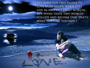 It's hard for two people to love each other when they live in two ...