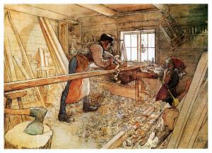 in the carpenters shop