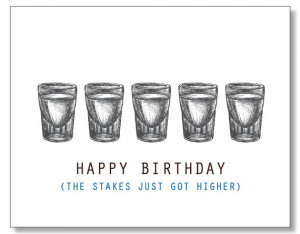 HAPPY BIRTHDAY DUDE Alcohol Card. Hilarious Funny Card for Men. Eco ...