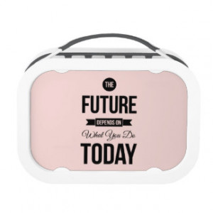 Pink Motivational Quote The Future Lunchboxes