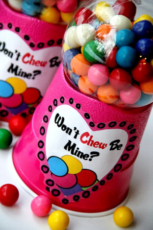 Bubble Gum Machine for Valentine's Day with a printable. I can't ...