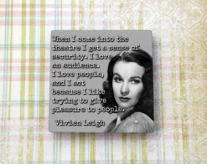 Vivien Leigh Quote Old Vintage Holl ywood Ceramic Tile Refrigerator ...