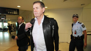 Peter Slipper arrives at Brisbane Domestic Airport amid allegations of