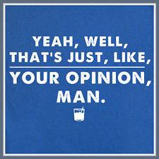 ... Man T Shirt The Big Lebowski Dude Abides Bowling Movie Quote Tee