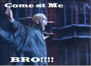 come at me bro, harry potter, lord voldemort, quotes, text, true ...