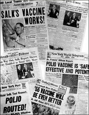 First Effective Polio Vaccine Developed in 1952 by Jonas Salk at the ...