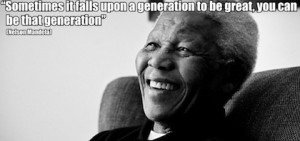 generation to be great nelson mandela picture quote