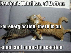 newtons third law guarantees that people will click through to your ...