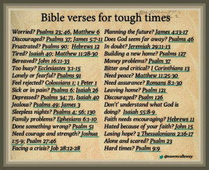 Bible verse for hard times