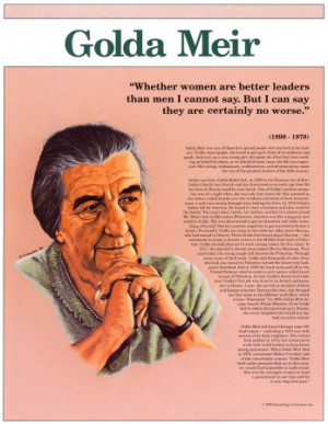 Friday Art & History Feature - Golda Meir