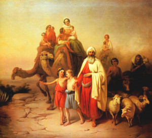 Abraham on his family's journey from Ur to Canaan. The Jerusalem Bible ...