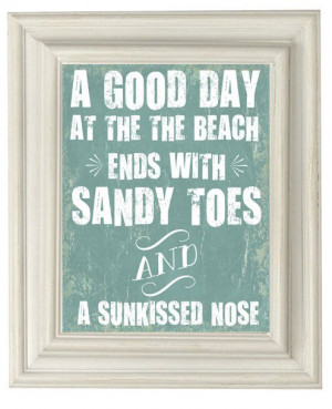 with sandy toes and a sun-kissed nose. Agreed! #beach #summer #quote ...