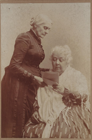 Photo of Elizabeth Cady Stanton and Susan B. Anthony together by J.H ...