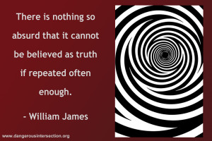 William James, on the effect of repetition