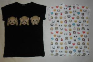 Monkey Emoji Emotions T Shirt 6 20 Primark Ladies
