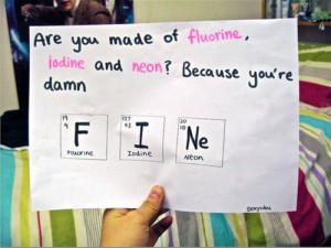 Chemistry Pick Up Line.