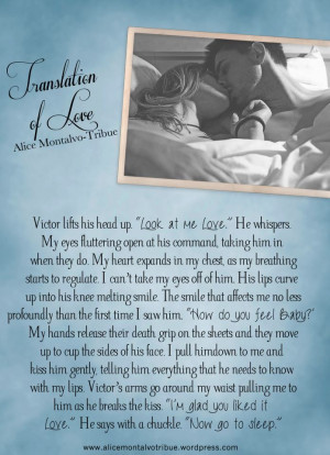 Blog Stop & Review: Translation of Love by Alice Montalvo-Tribue
