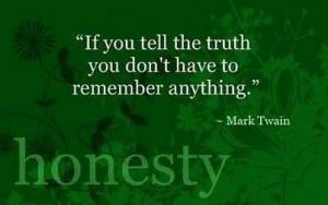 Always be Honest!