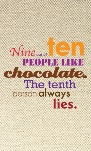 Love Chocolate Quotes