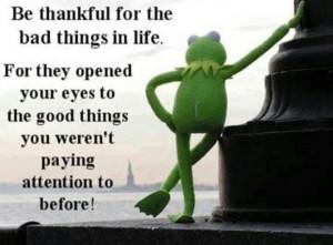 Always be Thankful.