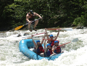 White Water Rafting Instructor Goes Flying