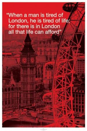 London Big Ben Carousel City Quote Poster