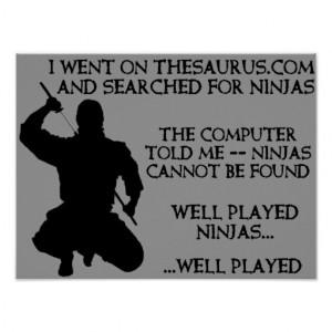 thesaurus_ninjas_funny_ninja_poster_sign ...
