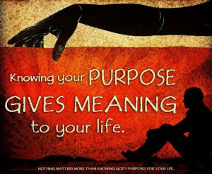 Knowing your purpose....