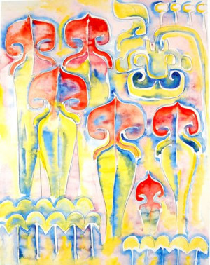 Walter Anderson Pitcher Plant Artwork