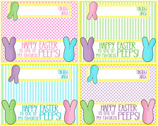 Printable Easter Bag Topper - Happy Easter To One Of My Favorite Peeps ...