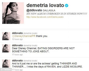 Poor taste: Demi was offended by a line which saw an actress playing a ...