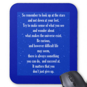NEVER GIVE UP ON YOURSELF MOTIVATIONAL QUOTES SAYI MOUSE PAD