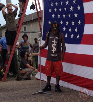 Lil Wayne Shoots 'God Bless Amerika' Video In New Orleans
