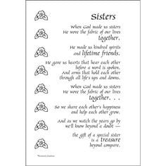 ... poem for a page sticker $ 1 40 http www dinglefoot com sisters poem
