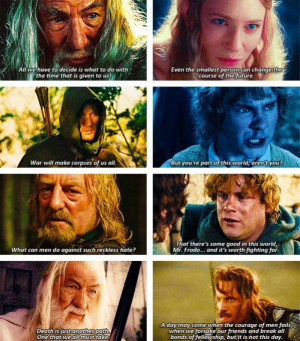 Epic LOTR quotes :)