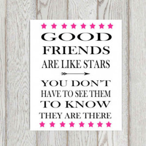 Friendship quote Print Inspirational words Hot pink Printable life ...