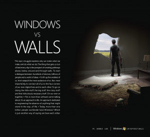 Windows Life Without Walls in Print