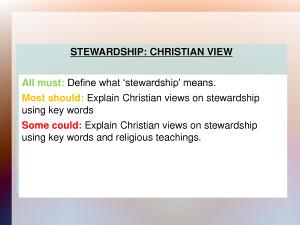 Christian Stewardship PowerPoint by liuhongmeiyes