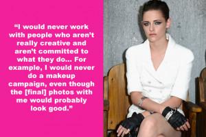 Zip it, Kristen Stewart . Demeaning, pseudo-intelectual opinions like ...