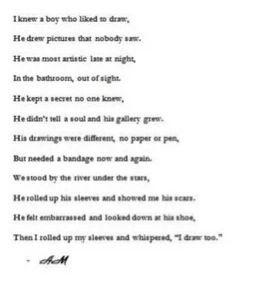 Self harm poem: Girls, Harming Suicide, Help, Drawings Suicide Poem ...