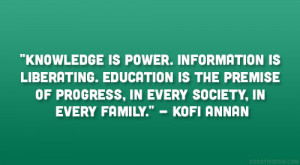 Education Is Power Quote Kofi annan quote