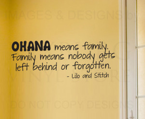 ... -Decal-Quote-Vinyl-Art-Lettering-Lilo-and-Stitch-Ohana-Family-B85