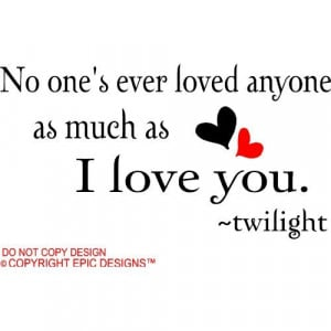 love you twilight cute wall quotes decals sayings vinyl Home