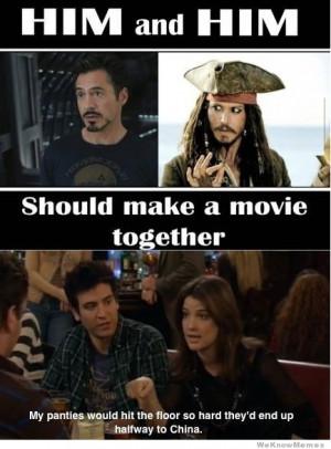Robert Downey Jr and Johnny Depp should make a movie together…