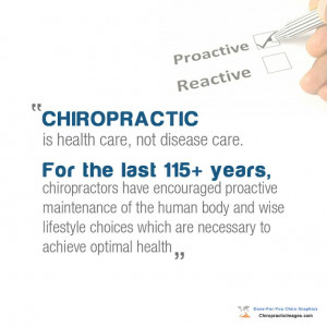 Chiropractic is health care, not disease care. Dr. John Giugliano ...